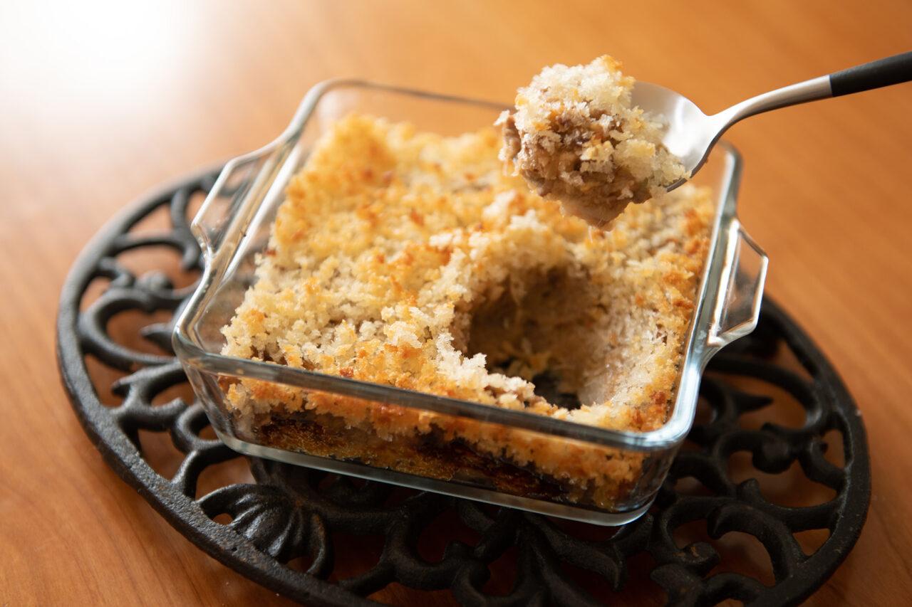 鹿ひき肉と里芋のスコップコロッケ
